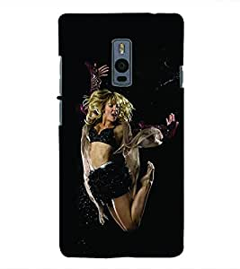 Fuson 3D Printed Dance Designer Back Case Cover for OnePlus 2 - D634