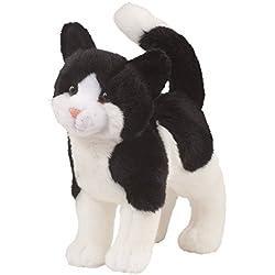 Peluche de gato Cuddle Toys 1868, blanco y negro, 30 cm de largo