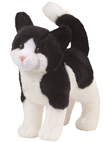 Cuddle Toys 1868 30 cm Long Scooter Black and White Cat Plush Toy