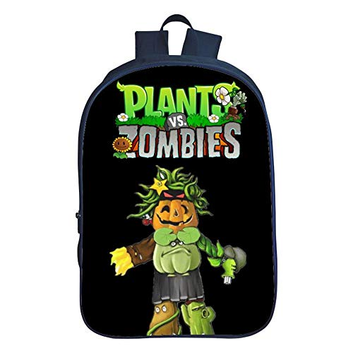 DWYRD Kinderrucksack Pflanzen Vs. Zombies 3D Printing Schultaschen Boy Book Bags Mädchen Umhängetasche G