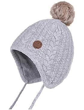 Jastore Baby Mütze Beanie niedlich Kinder Hut gestrickt Mädchen Junge Wintermütze warm