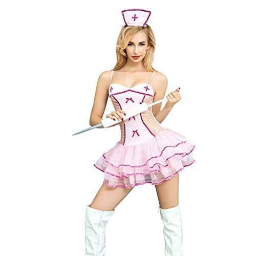 LCWORD Porno Frauen Cosplay Kostüm Sexy Dessous Verband Erotische Krankenschwester Arzt Outfit Halloween Kostüme (Halloween Krankenschwester Arzt)