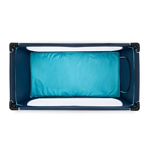 Hauck Kindereisebett Dream N Play Plus inklusive Matratze, seitlichem Reißverschluss, und Transporttasche, ab Geburt, tragbar, faltbar und klappbar, blau (navy aqua) 120 x 60 cm - 13