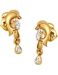 Jewel One 22k (916) Yellow Gold The Dolly Dolphin Drop Earrings