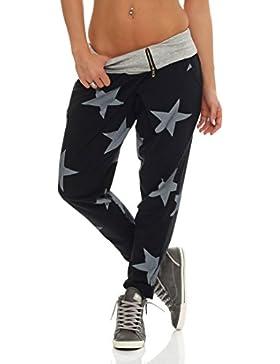 malito Urban Camouflage Boyfriend Pantalón Sweatpants Fitness Harem Aladin Bombacho Sudadera Baggy Yoga 3307 Mujer...