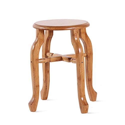 Wanli shopping mall sgabello piccolo in bambù sgabello in bambù sgabello per la casa panchetta in bambù sgabello da bar tavolino da salotto sgabello (dimensioni : 37.5 * 44cm)
