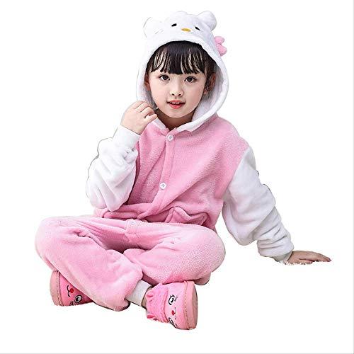 changshuhongwu White-Sleeve Niedliche Kätzchen Niedlich Tier Pyjamas Kinder High Lounge - Pyjamas 105cm Abschnitt C (C Abschnitt Kostüm)