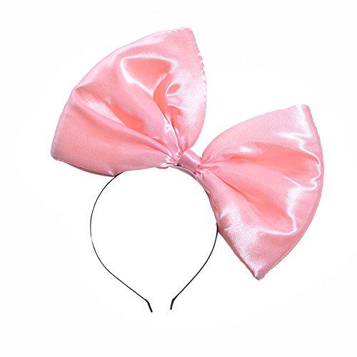 TOPGKD Ins heißer Verkauf Partyhochzeit Damen Satin großen Bogen Stirnband (Rosa) -