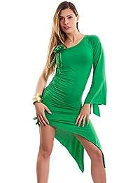 Toocool - Miniabito donna abito vestito monospalla monomanica spacco danza  ballo CC-5033 596960a4e47
