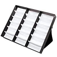 18 Piece Sunglass Eyewear Eye Wear Display Tray Case Stand Folding Organizer. Also Great For Watches And Jewelry