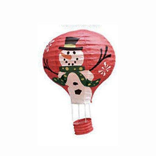 attachmenttou Papierlaterne Schneemann Heißluftballon chinesische Lampen Weihnachten Hochzeit Wishing