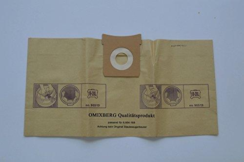 Preisvergleich Produktbild 10x Staubsaugerbeutel geeignet für Kärcher Original 6.904-168.0 Papierfiltertüten Vorteilspack 10 Stück, 18 - 20 Liter) Vorteilspack Qualitätsfiltertüten [Energieklasse A++]