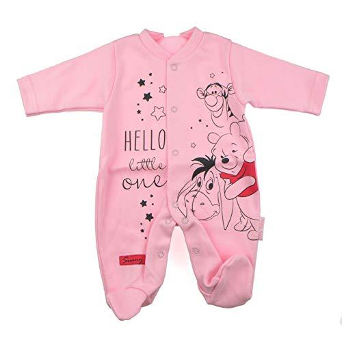 Sunny Kids Baby Strampler Mädchen   Winnie The Pooh   Langarm   100% Baumwolle   Frühling   Rosa   Overall (68)