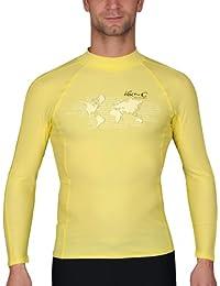 iQ-Company UV 300 Shirt Watersport LS Ocean - Camiseta con manga larga de natación para hombre