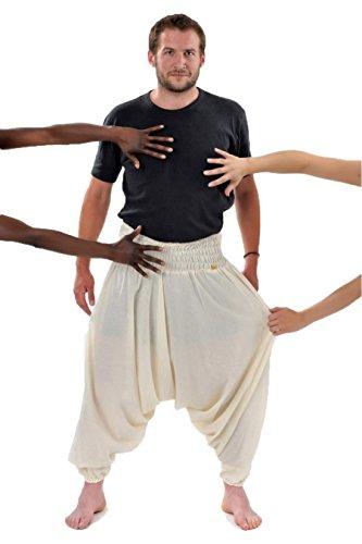 - Pantalon sarouel smoke aladin sarwel indien creme - Blanc / écru