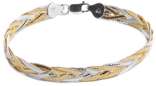 Bijoux pour tous - BRS-K41179 - Pulsera de mujer de plata de ley, 20 cm