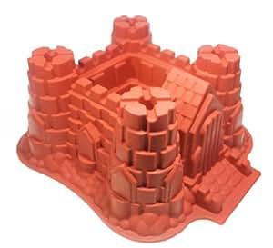 LWI Home - Moule à gâteau en silicone en forme de château-fort - Haute qualité - Antiadhésif
