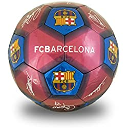 Barcelona FC - Balón de fútbol Unisex, tamaño 5, Color Burdeos, 5 Unidades