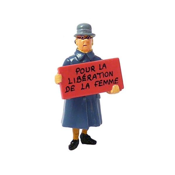 Moulinsart Figura Tintín Irma Pour la libération de la Femme Carte de voeux 1972 (46995) 1