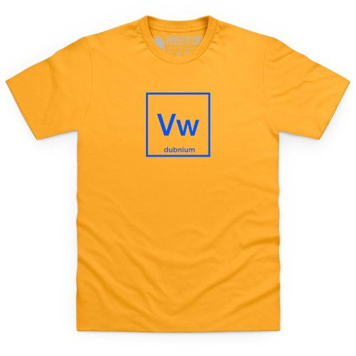 Periodic Pure Dubnium T-Shirt, Herren Gelb