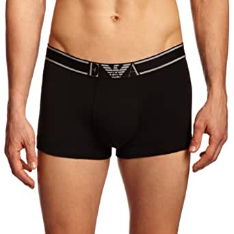 Emporio Armani Intimates Soft Cotton Stretch Without Fly Men's Trunks Black Small