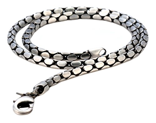 Bico Herren Schlange 50cm Halskette (F14 50cm) Silber