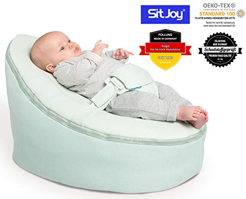 Sitjoy Baby-Sitzsack doomoo | Toxproof-Perlen Füllung | Home Mint | Liegekissen - Lagerungskissen