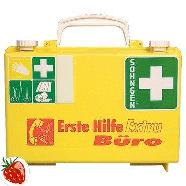 Preisvergleich Produktbild Söhngen Erste Hilfe Koffer Extra Büro B260xH170xT110ca.mm leuchtgelb SÖHNGEN - 320126