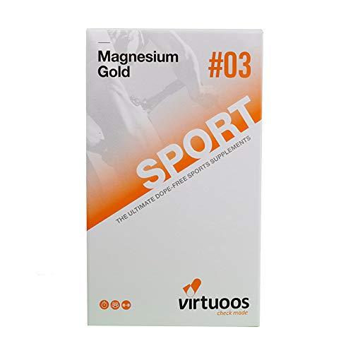 Virtuoos | Magnesium Gold | Hinzugefügt Bioperine® | 90 Kapseln | NZVT zertifiziert | 100% Frei von Doping -