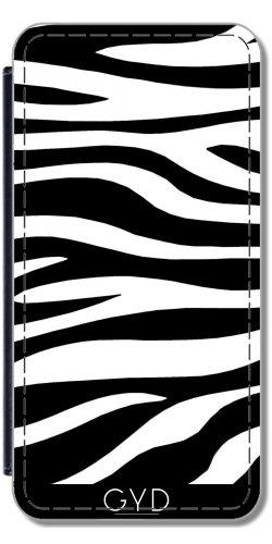 Leder Flip Case Tasche Hülle für Apple iPhone 6 Plus / 6S Plus - Zebra-Druck by wamdesign (Zebra-druck-mode-tasche)