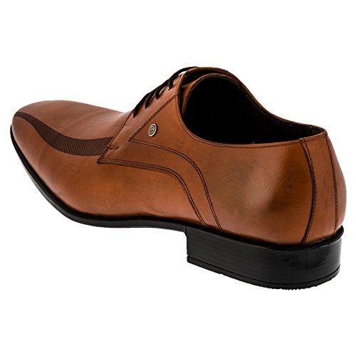 Schnürschuhe Leder Herrenschuhe schönes Design mit besonderen Akzenten #156bn Braun
