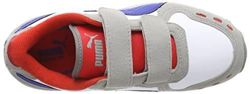 Puma Cabana Racer Sl V Kids, Sneakers Basses Mixte enfant Gris (drizzle-white-surf The Web 37)