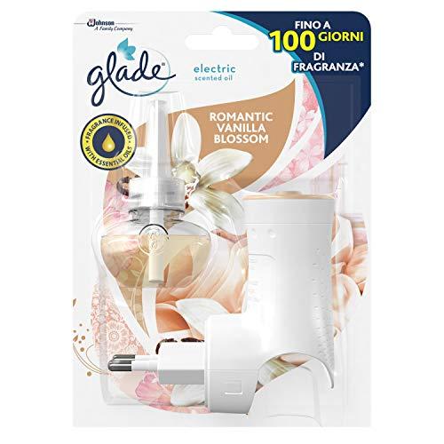 Glade - Difusor eléctrico de aceites esenciales - Ambientador para ambientes 1 difusor + 1 recarga, aroma vainilla