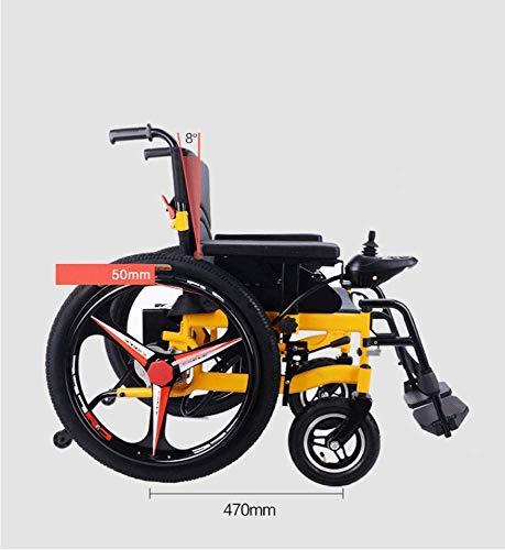 zdw Rollstuhl Elektrorollstuhl - Best Folding Motorisierte Elektrorollstühle Lightweight Best Heavy Duty Lithium Batterie Electric Power (Gelb) -
