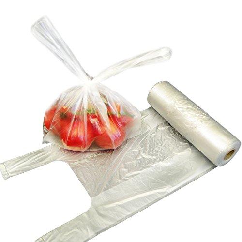 1.000x Knotenbeutel 3 Kg auf Rolle (4 x 250 Stück) 22 + 13 x 38 transparent | Obstbeutel | Knotentasche in 22+13x38 cm | Plastiktüten | HUTNER