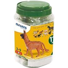 Miniland 27420 - Bote con 11 figuras animales, 11 unidadses