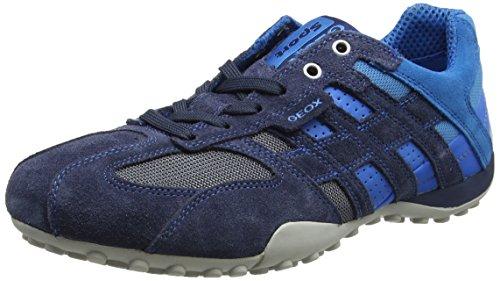 Geox Snake K, Sneakers basses homme Bleu (Navy/Azurecf44D)