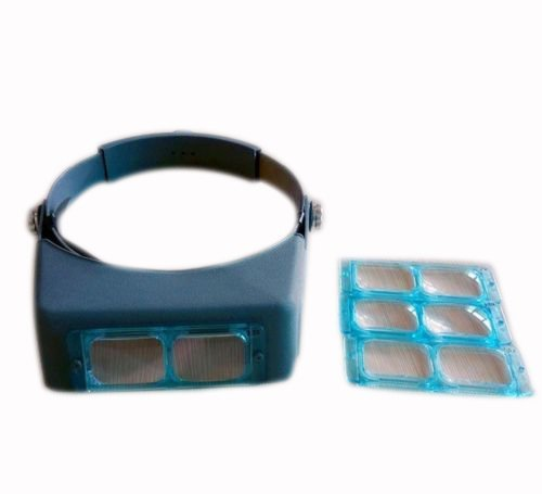 Medsor Impex Haartransplantation Lupe 4 Objektiv-Glas-Kopf Visier Loupe Binocular Standard Multi
