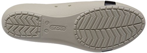CROCS - BRYNN FLAT - black Stucco Black