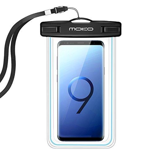 ndyhülle, Staubdicht Handy Tasche mit Halsband für iPhone X 8 7 6 5SE 6S 7 Plus, Samsung Galaxy S7 Edge S6 S7 S9 J5 A5, 4-5.7 Zoll Smartphone, Schutzhülle für Strand, Wandern, Outdoor - IPX8, Blau (Verizon-handys Blau)