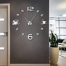 973fae9b6ad1 hysxm 27 Inch Cafe DIY Reloj De Pared Grande Sin Marco Reloj De Pared  Gigante Diseño
