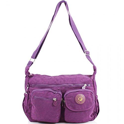 YourDezire , Borsa Messenger  donna Purple