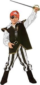 César - Disfraz de Pirata con Espada, Parche y pañuelo para niño (de 8/10 años)