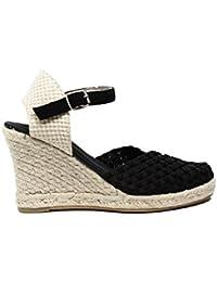 Woz UP365 NERO GLITTER sandalo elastico quadra corda 70 nero nuova collezione primavera estate 2017