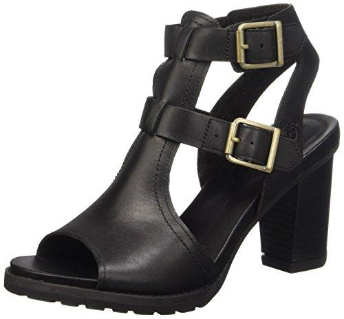 Timberland Stratham Heights Sandal_Stratham Heights Sandal, Damen Knöchelriemchen Sandalen, Schwarz (Black Smooth), 36 EU