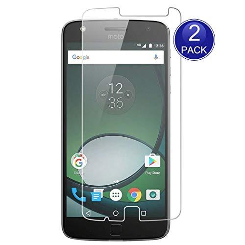 X-Dision [2-Pack Protecteur d'écran pour Moto Z Play, 0.26mm HD Protection, 9H Verre trempé Protector, Anti-Rayures (Note: Pas complètement Couvert)