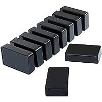 Elcoho 10 Piezas Plástico Impermeable Cajas Caja de derivación para proyecto electrónico 3.94 x 2.36 x 0.98 pulgadas, Negro, negro
