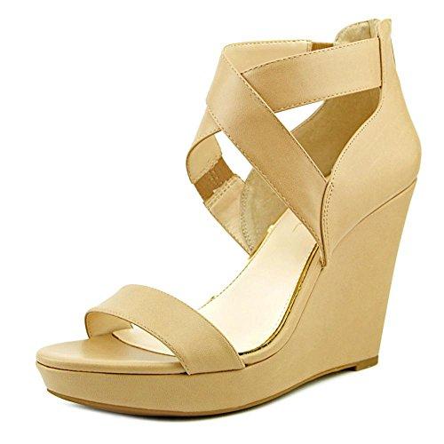 Criss Cross Wedge Sandal (Jessica Simpson Frauen Jamilee Offener Zeh Leger Platform Sandalen Braun Groesse 11 US/42 EU)