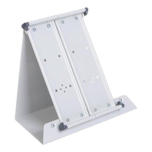 Tischständer A5 montiert grau leer aus Metall für 20 Tafeln