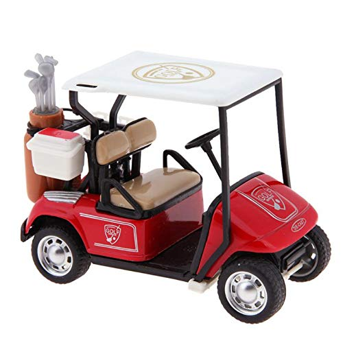 Generic Baby Boys Toys Golf Cart Model Toys 1:36 Scale Alloy Pull Back Model Car Toys Simulation Lifelike Car Gifts for Children Kids Red